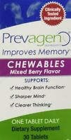 Prevagen Mixed Berry 10 Mg Chewable Tablets, 30-count Bottle - Brand Sale