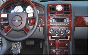 chrysler 300 300c 2 7l 3 5l hemi interior wood dash trim. Black Bedroom Furniture Sets. Home Design Ideas