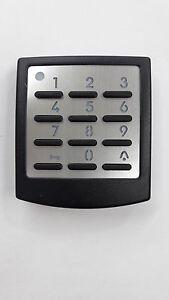 Novoferm-Funk-Codetaster-Signal-218-schwarz-Tastatur-Edelstahlblende-Aufputz