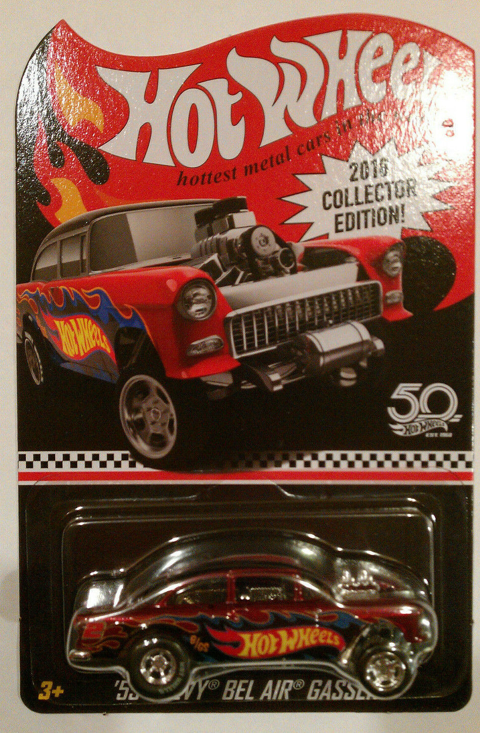 2018 HOT WHEELS KMART MAIL AWAY '55 CHEVY BEL AIR GASSER