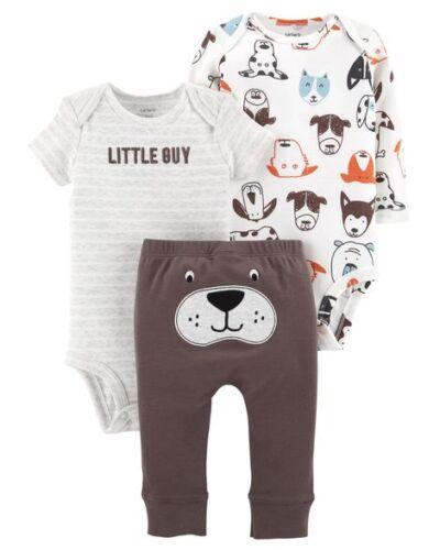 Carters Boy 3-Piece Little Character Bodysuit Set Variety Sizes