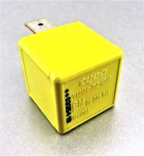 43-Vauxhall Opel Ignition Starter Glow Plug 4-Pin Yellow Relay 90226846 1238612
