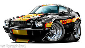 1971 Monte Carlo 350 454  Wall Graphic Decal Cartoon Car Art Man Cave Tools NEW