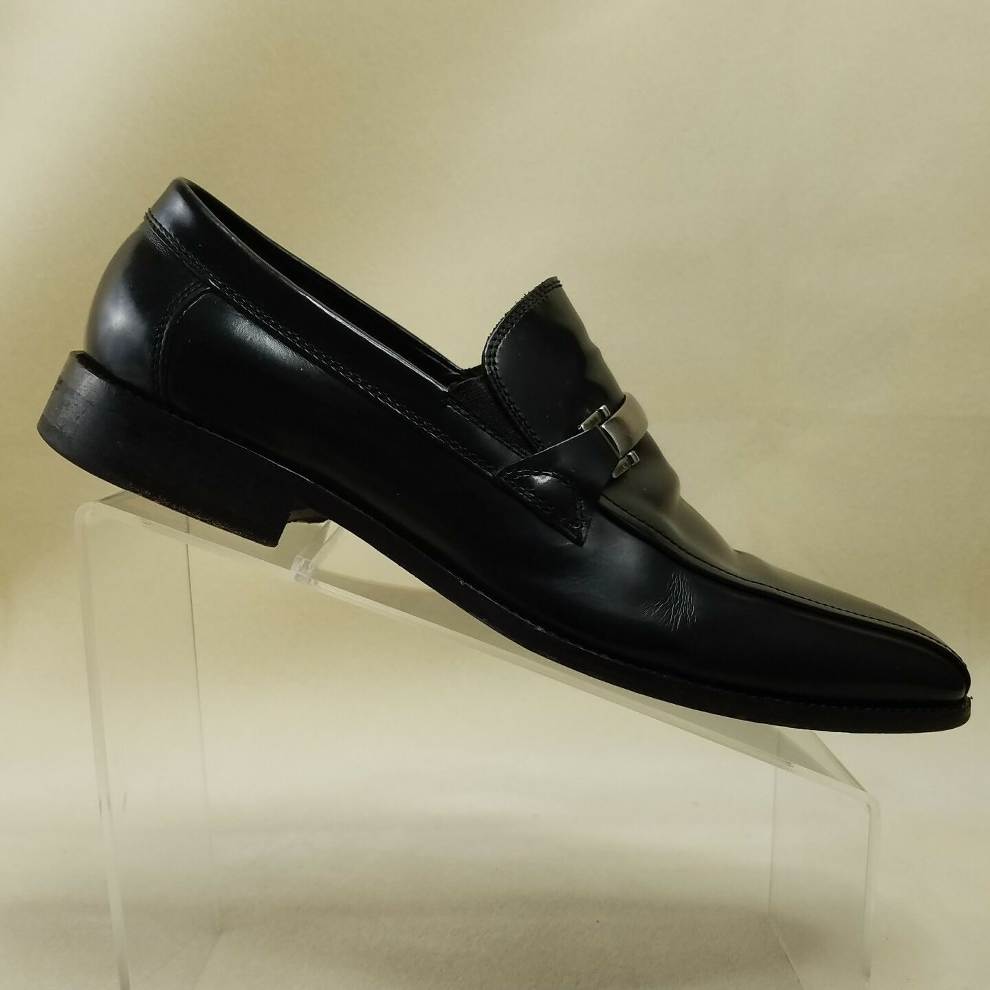 Johnston Murphy Mens Size 9M Loafers Dress Shoes Horsebit Black Leather Dress Loafers #F96 13a183