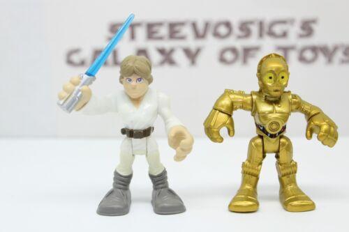 Playskool Star Wars Galactic Heroes Lot Skywalker Solo Yoda R2D2 C3PO Chewy