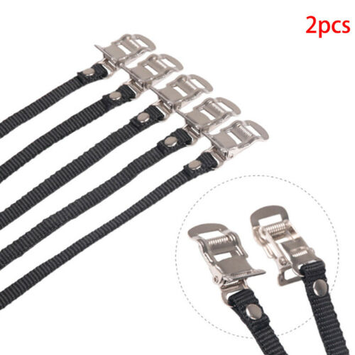 1Pair Cycle Pedal Non Slip Strap Bike Spinning CyclingShoe Toe Casing Tie RopeDR