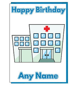 Image Is Loading Personalised Hospital Birthday Card Mum Dad Brother Sister