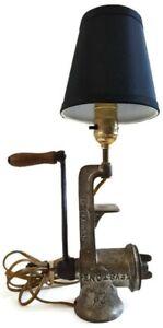 Vintage-Butcher-Shop-Industrial-Style-Repurposed-Meat-Grinder-Table-Lamp