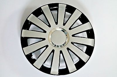 """SET OF 4 15"""" UNIVERSAL WHEEL TRIMS COVER,RIMS,HUB,CAPS TO FIT AUDI +GIFT #D"""