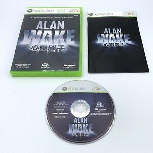 Alan Wake (Microsoft Xbox 360) Rare English Chinese Version Complete With Manual