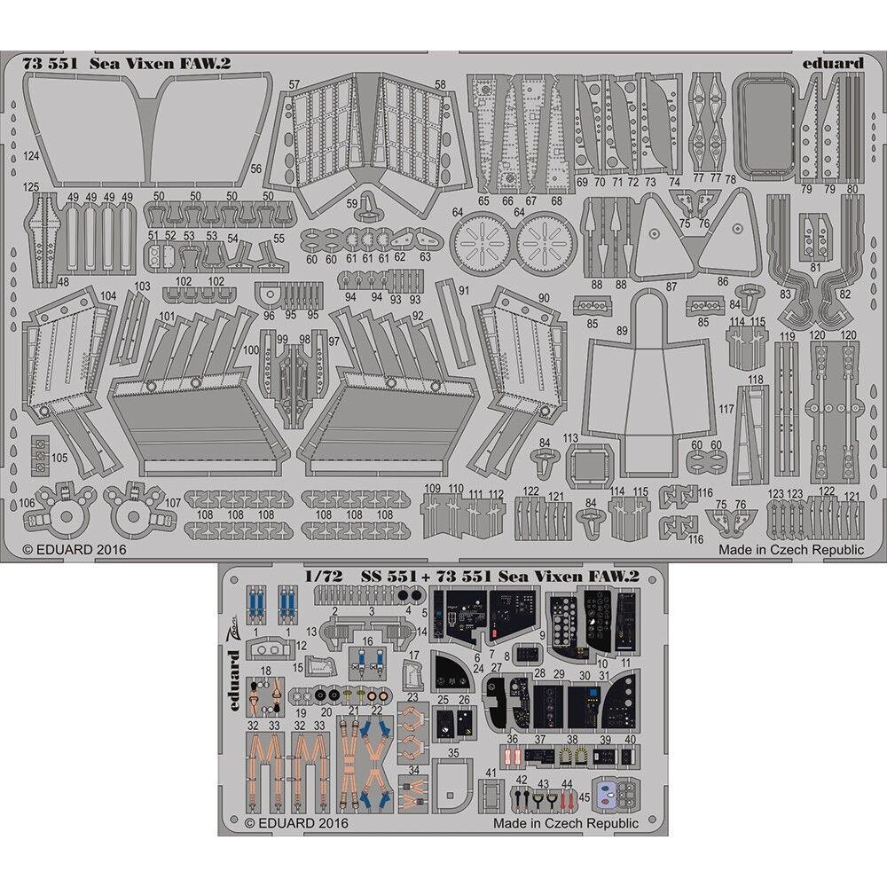 Eduard Photoetch 1 72 - Sea Vixen Faw.2 Cyber Hobby Kit - Edp73551 172 Faw2