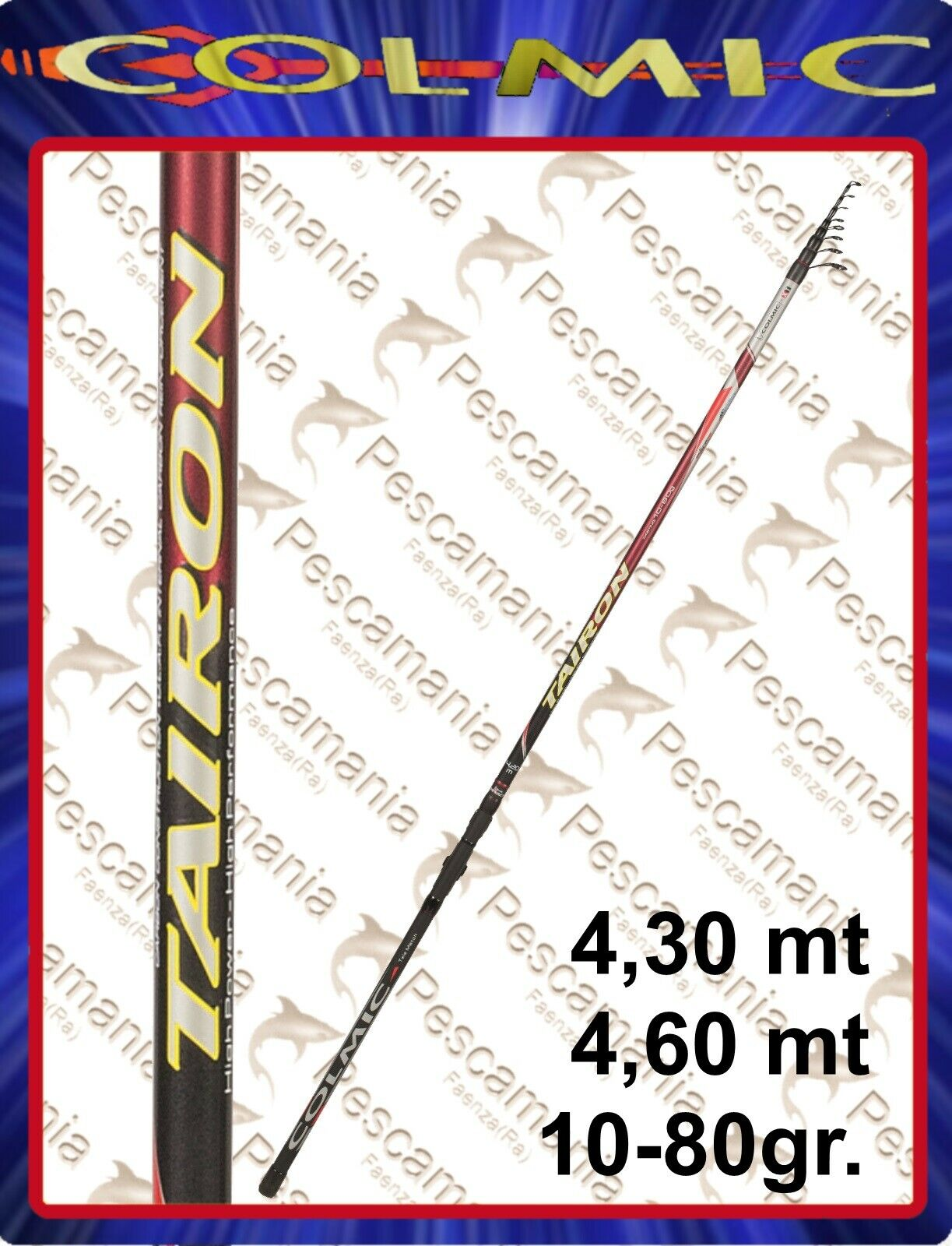 Canna Colmic TAIRON Telematch gr gr gr 10-80 4,30-4,60 Pro Force Carbon 3a5b95