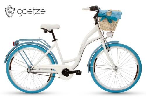 Goetze Style 26 Zoll 3 Gang Shimano Tiefeinstieger Citybike Damenfahrrad /& Korb