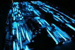 100g GRÜN 1150 STARK Pigment Leuchtpigment für Leuchtfarbe Epoxid fluoreszierend