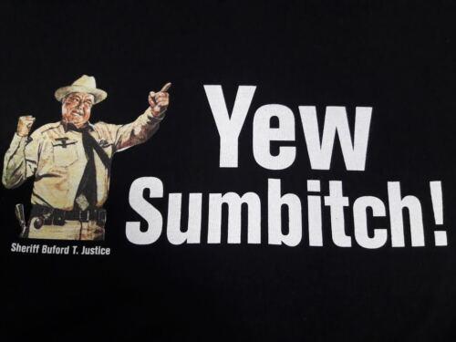 SMOKEY and the BANDIT Sheriff Buford T Justice Shirt YEW SUM BITCH Trucker Semi