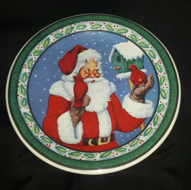 Collectable Santa Claus Christmas Winter Plate Gift Idea FREE SHIPPING CAN USA