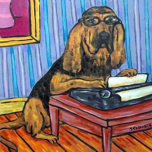 Cat ART print POSTER GIFT JSCHMETZ modern folk typewriter 11x14
