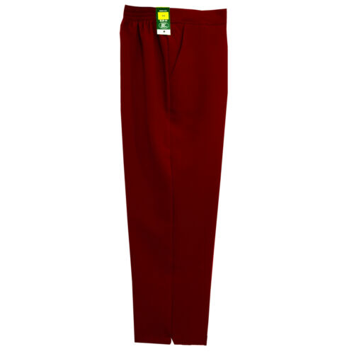 Ladies Womens Work Trousers Half Elasticated Waist Pull Up Pockets Plus Size