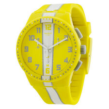 Swatch Amorgos Yellow Plastic Unisex Watch SUSJ100