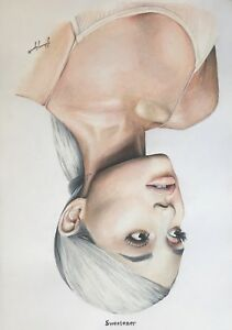 ariana grande sweetener poster drawing art ebay