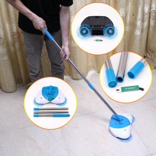 Spin Hand Push Sweeper Handheld Broom Household Floor Dust Clean Mop Robot HQ