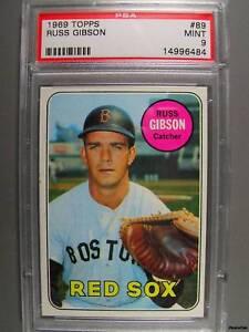 1969-Topps-89-RUSS-GIBSON-PSA-Mint-9-Red-Sox
