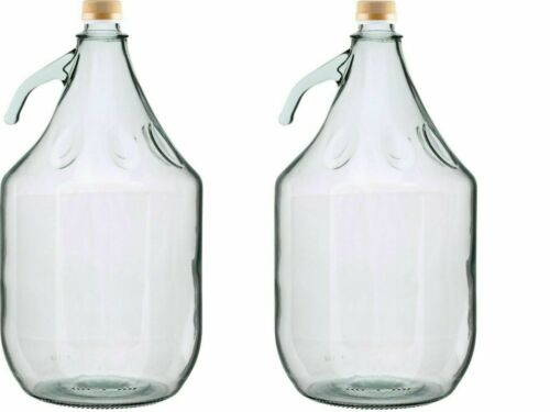 Pack of 2,4,6,10-5L Demijohn with SCREW-CAP for BREWING /& Optional Accessories