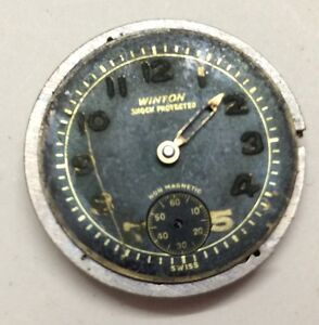VINTAGE WINTON 15 JEWELS WRIST WATCH MOVEMENT, For Part/Repair. O#5