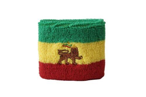 7x8cm Armband für Sport Schweißband Fahne Flagge Äthiopien alt 2er Set