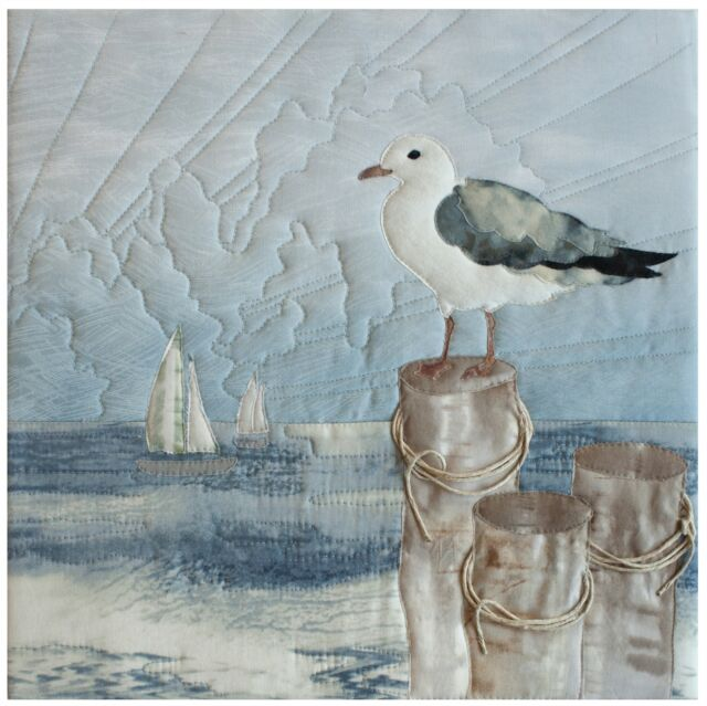 McKenna Ryan Quilt Pattern From the Coast with Love Perspective Seagull Sailboat