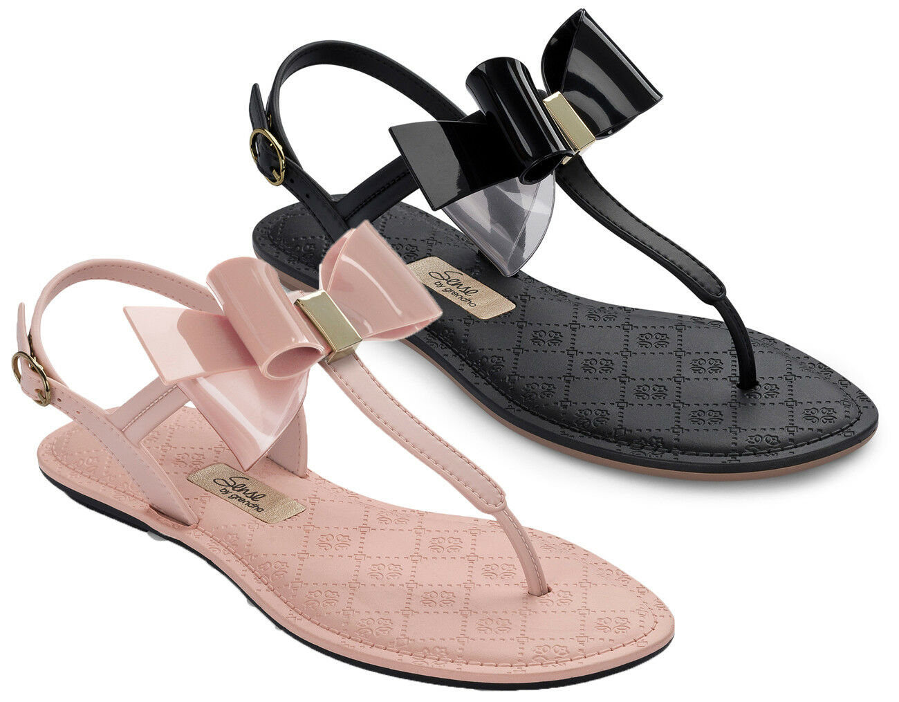 NEW Grendha Sense Bow Flip Flops Sandals T-Bar Strap Brazilian EU36-41 3-8
