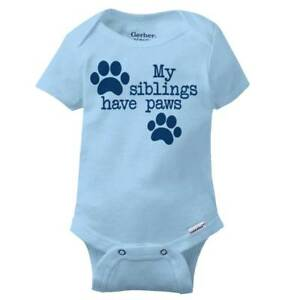 All of My Siblings Have Paws Custom Onesie Unisex shower gift Bodysuit Dog Cat
