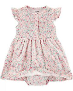 Carter S Baby Girl Floral Dress And Cardigan Set 6 9 12 Months Ebay