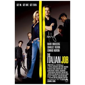 Mark-Wahlberg-Dedicace-The-Italien-Job-Original-27x40-D-S-Film-Affiche