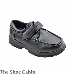 wedding shoes size 12 boys childrens black velcro smart school wedding shoe 1134