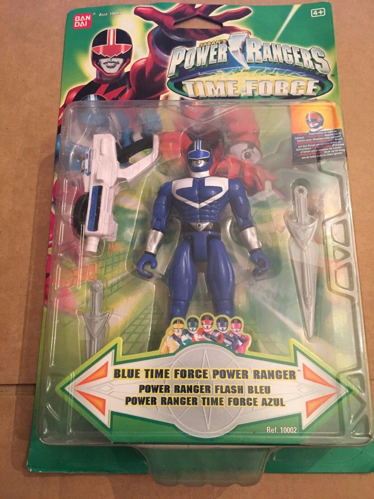Power Rangers Blau time force power   new in blister pack    Mega rare toy