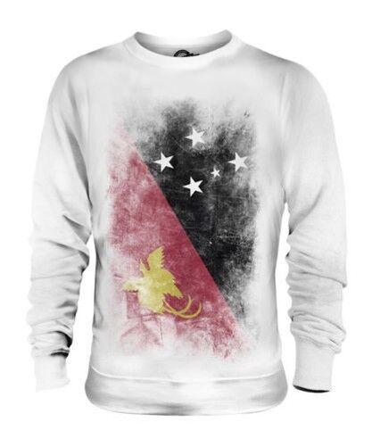 PAPUA NEW GUINEA FADED FLAG UNISEX SWEATER TOP PAPUA NIUGINI PAPUAN GUINEAN
