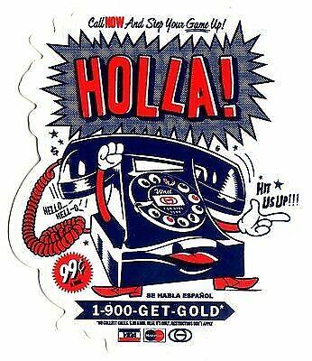 Holla 10.5cm high approx skateboarding hip hop Gold Wheels Skateboard Sticker