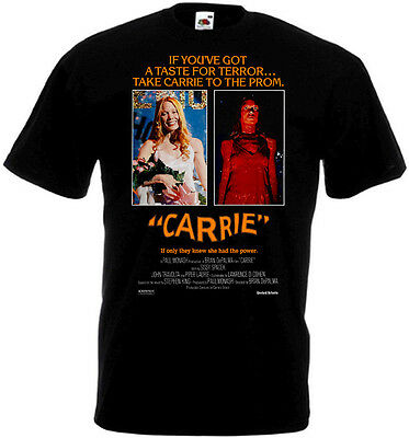 CARRIE Movie Poster T shirt Black all sizes