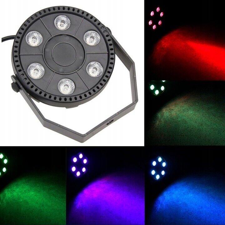 NY! 6 RGBW LED Diskolys med Lydsensor