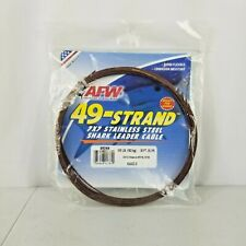 7 STRAND BRAND 49  STAINLESS STEEL LEADER CABLE 400 LB 30/'  CAMO BROWN 10 crimps