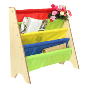 Image Is Loading New Multi Color Kids Children Wooden Bookcase Shelf