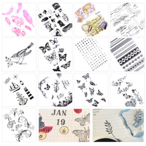 Transparent Silicone Clear Mix Stamp Seal Sheet Cling Scrapbooking Album DIY