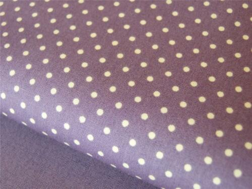 100/% cotton Lilac Purple Plum Spot 3mm dotty spots FABRIC craft quilting bunting