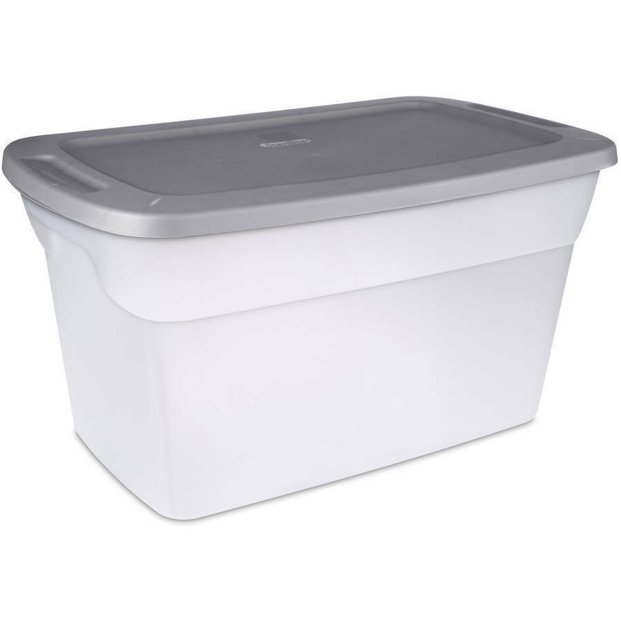 plastic storage containers clear 30 gallon moving bin large tote 6 pack no tax. Black Bedroom Furniture Sets. Home Design Ideas
