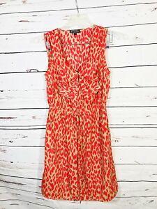 Be-Bop-Womens-Sleeveless-Dress-Size-M-Medium-Animal-Print-Juniors-Pockets