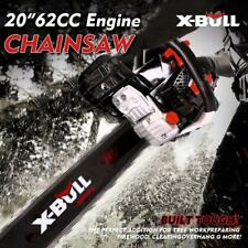 "X-BULL  62cc ChainsawPowered Chain Saw Engine 20"" Bar 2 Cycle Gasoline"