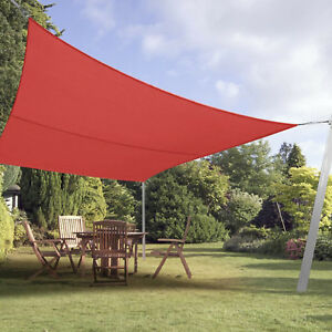 Image Is Loading Red Custom Rectangle Sun Shade Sail Screen Patio
