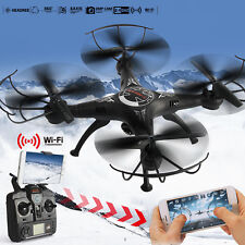 X5SW WIFI FPV 2.4Ghz 4CH 6-Axis RC Quadcopter Drone 2MP Camera HD RTF Black
