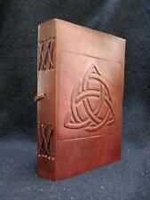 A5 Handmade Leather Journal Diary - Celtic TRIQUETRA Knot  - Unlined Paper